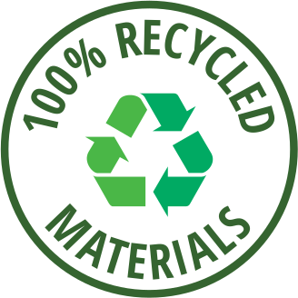 100% Recycled Materials